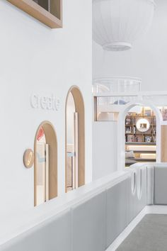 Image 1 of 13 from gallery of NUBO Kindergarten / PAL Design. Photograph by Michelle Young, Amy Piddington Daycare Design, Kids Room Design, School Design, Cafe Design, House Design, Kids Restaurants, Kids Cafe, Kindergarten Design, Kids Library
