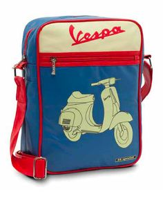 Vespa shoulder bag #Vespa #scooter #merchandising #vintage #bag #blue #red