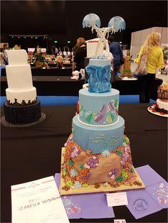 Tort ślubny wystawiony w konkursie Cake Festival Poland
