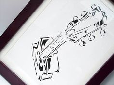 Paper Cut Art - Guitar Picture £12.00