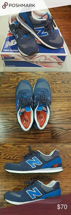 New Balance 574 Brand new pair of shoes. I bought them on September 28th 2016. They are in perfect condition. Have only been worn one time. They aren't my style so I just don't want them anymore. New Balance Shoes Athletic Shoes