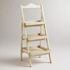 Whitewashed Chloe Storage Shelf | World Market - Bathroom $80