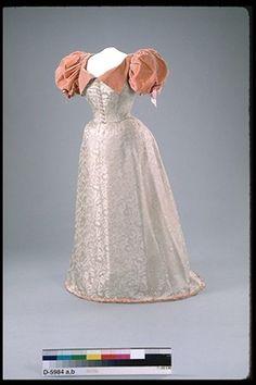 Evening dress, 1888-98 England (Salisbury), Canadian Museum of Civilization