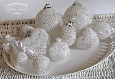 koronkowe... No instructions, but these would be pretty for Christmas, Winter & Valentines Day