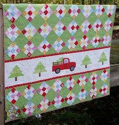 Podunk Pretties: ~ Christmas Memories Truck Quilt and Pillow ~
