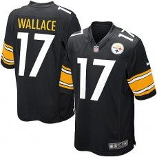 abc7c43b2d8 Nike Mens Pittsburgh Steelers Mike Wallace Jersey 17 Game Team Color Black  Football Cleats