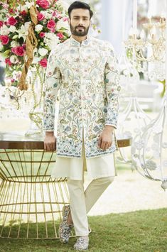 Wedding Dresses Men Indian, Wedding Dress Men, Indian Wedding Wear, Wedding Men, Wedding Suits, Wedding Attire, Groom Wear, Groom Outfit, Bride Groom