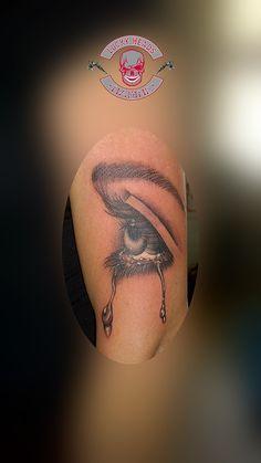#auge #eye #cryingeye #weinendesauge #tattoo #ink  #love #tattooitzehoe #itzehoe #luckyheadstattoo #nofilter #alphasuperfluid Head Tattoos, Tattoo Ink, Fish Tattoos, Crying Eyes, Tattoo