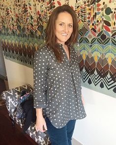 Liesl + Co Gallery Tunic out of Nani Iro Pocho Dot double-gauze.