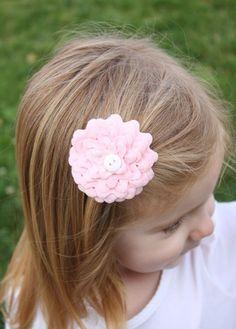 Ric-rac hair flower