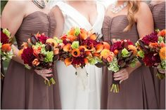 Beautiful bouquet colors for a September wedding :)    From Allyson Wiley Photography