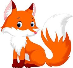 Photo about Illustration of cute fox cartoon. Illustration of hunt, gradient, illustration - 61378156 Cartoon Fox Drawing, Cute Fox Drawing, Cartoon Kunst, Cartoon Drawings Of Animals, Cute Cartoon Animals, Cute Animal Drawings, Cute Drawings, Art And Illustration, Fox Tattoo Design