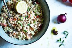 Řecký kuskus salát Kitchenette, Acai Bowl, Cooking, Breakfast, Food, Acai Berry Bowl, Kitchen, Morning Coffee, Essen