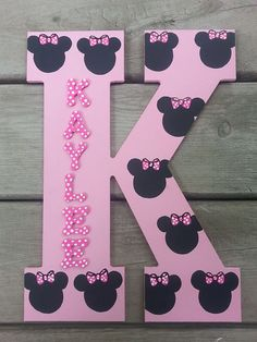 Minnie Mouse Letters 13 Wood Letters Hand Painted от SLGPaints