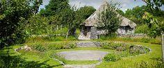 Imbolc Garden - Spring Equinox / Brigit's Day (Feb. 1st) at Brigit's Garden in Galway, Ireland by Mary Reynolds