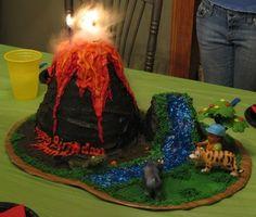 Dragon Cakes With Valcano