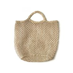 Hand Woven Jute Macrame Market Bag Natural - The Future Kept - 1