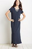 maxi tee dress in deep blue heather from J.Jill