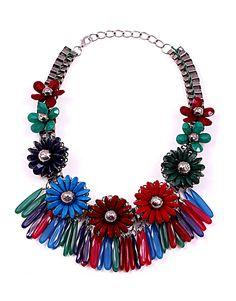 flower power necklace on www. Flower Power, Necklaces, Jewellery, Flowers, Jewels, Schmuck, Collar Necklace, Wedding Necklaces, Royal Icing Flowers