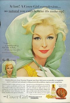 Do you want to know something I love about vintage cosmetics ads? Unlike (most) today, they didn't always feature 16 year olds. The gorgeous beauty here could be anywhere from 25 to 40, and I adore that fact. 1960s