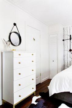 23 of our favorite Ikea Hacks: #DIY White & Gold Dresser