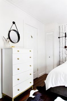 23 of our favorite Ikea Hacks: #DIY White & Gold Dresser