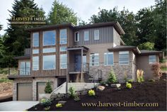 NW inspired Crest Meadows Residence - contemporary exterior in Portland by Jordan Iverson Signature Homes on Houzz Wood Cladding, Wood Siding, Level Homes, Outdoor Living Areas, Modern Exterior, Exterior Design, Modern House Design, Beautiful Interiors, Custom Homes