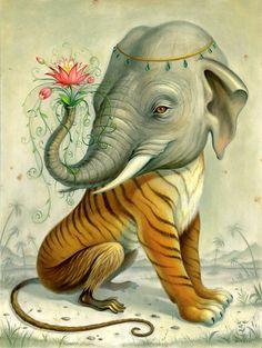 Illustration - illustration - Chris Buzelli illustration : – Picture : – Description Chris Buzelli -Read More – Art And Illustration, Illustrations, Illustration Animals, Surrealism Painting, Pop Surrealism, Street Art, Surreal Artwork, Communication Art, Elephant Art