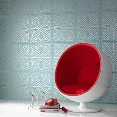 Graham and Brown wallpaper - half bathroom upper floor.