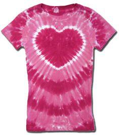 edc108b4231 Kids Tie Dye T-shirt - Sundog Girls Pink Heart Tee Tie Dye T-