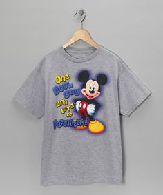 Take a look at this Gray Mickey 'One Cool Guy' Tee - Kids by Magic Kingdom Collection on @zulily today!