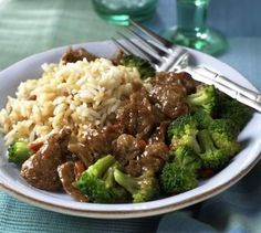 Crockpot Beef and Broccoli Recipe--my kids favorite meal in a crock pot so no rush--yes!--i would add a little more soy sauce and add the broccoli earlier than it says if using frozen.  i thought i would leave out the mushrooms but my little one loved them, so I will keep them.  I had mine over wild brown rice while the rest had over white rice.