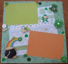 St. Patrick's scrapbooking