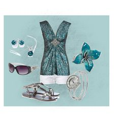 """""""turquoise"""" by staceedawn ❤ liked on Polyvore featuring Lucky Brand, Stolen, Wallis and Geneva"""