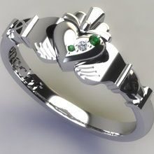 Silver PURITY Claddagh Ring