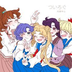 Makoto Kino, Ami Mizuno, Usagi Tsukino, Rei Hino and Minako Aino