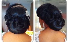 African American. Black Bride. Wedding Hair. Natural Hairstyles. https://www.facebook.com/mycharishair/photos_stream