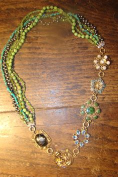 Jennifer George takes your old treasures and makes uniquely new jewelry. #upcycled #recycled #jewelry
