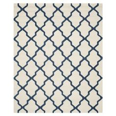 Samuel Textured Area Rug, Ivory/Navy - Choose Size | ACHICA
