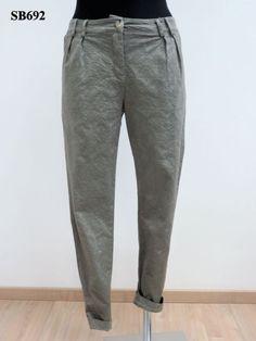 Pantalone a uomo in tessuto damascato