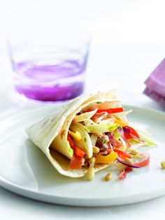 Een overheerlijke wrap met witloof, ham en paprika, die maak je met dit recept. Smakelijk!