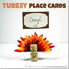 Turkey Place Cards | Easy Thanksgiving Craft