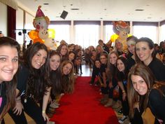 The UMass UDance Morale and Steering Committee getting ready for the kids' big entrance!