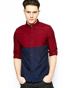 New Look Oxford Shirt with Block Colour