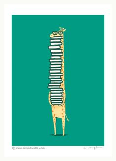 13 Book Prints to Spice Up Your Walls - love, love, love this giraffe one!