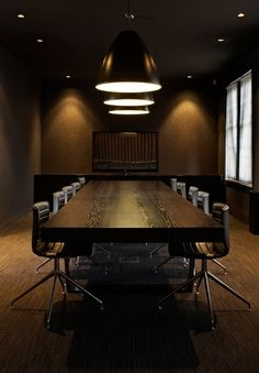 Boardroom that is too dark to see. Perfect.