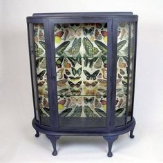 Fascinating elegance ... beautifully finished cabinet with wallpaper lining from KitschAttic.co.uk.