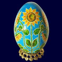 Sunflower Sunrise - Real Handmade Traditional Ukrainian Goose Egg