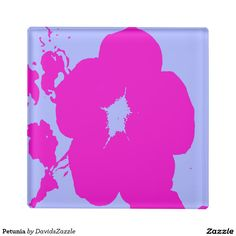 Petunia Glass Coaster  Available on more products! Type in the name of the design in the search bar on my Zazzle Products Page. Thanks for looking!  #flower #floral #abstract #art #zazzle #buy #sale #pattern #print #all #over #pink #blue #nature #planet #earth #glass #coaster #home #decor