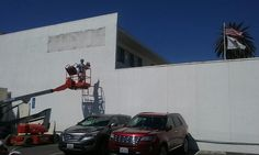 Something new is coming over at the Red Cross in Santa Monica. #BeautifyEarth #streetart #streetphotography #sprayart  #urbanart #urbanwalls #wallporn #graffitiigers #stencilart #art #graffiti #instagraffiti #instagood #artwork #mural #graffitiporn #photooftheday #stencil #streetartistry #stickerart #pasteup #instagraff #instagrafite #streetarteverywhere